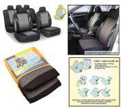 Autopotahy POLY šedé, s atestem na airbagsada 9ks