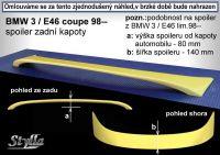 Zadní spoiler křídlo pro BMW 3/E46 coupe 1998r =>