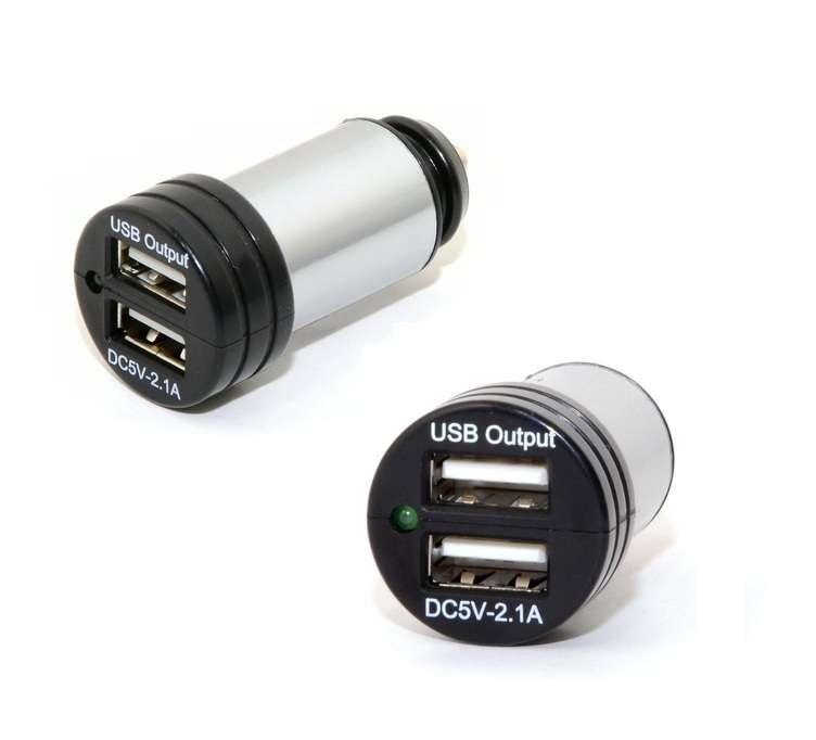 Autozástrčka do automobilového zapalovače s 2x USB, 12-24V 5V/2100mA, 1ks