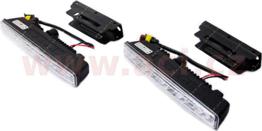 Přídavná světla denní svícení - 12V, 5xSMD, 182 x 55 mm sada včetně kabeláže