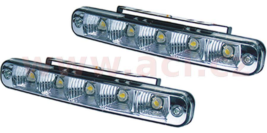 Přídavná světla denní svícení LUCAS - 12V, 5xSMD, 190 x 26 x 40 mm sada včetně kabeláže