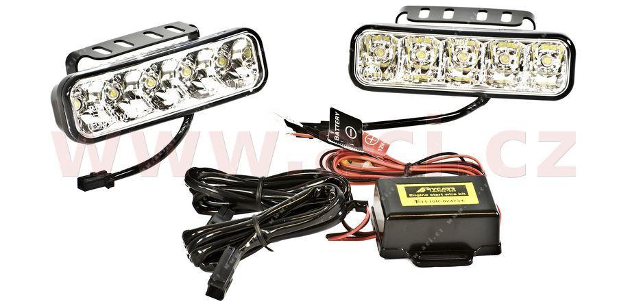 Přídavná světla LED denní svícení - 12/24V - 192 x 59,5 x 56 mm
