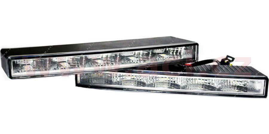 Přídavná světla LED denní svícení - 12V, 5xSMD, 212 x 22 x 69 mm sada včetně kabeláže