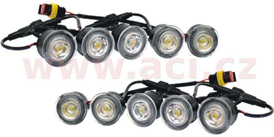 Přídavná světla pro denní svícení jednotlivá 12V LUCAS (2X 5KS SMD) (12V) - sada včetně kabeláže