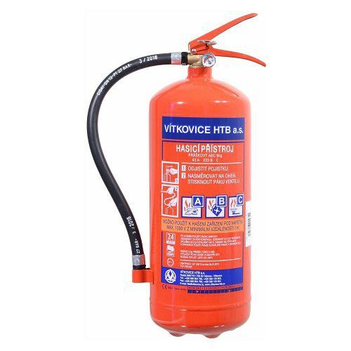 Práškový hasicí přístroj práškový 6 kg ABC (43A)