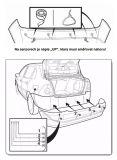 Parkovací systém zadní se 4. senzory je určený pro detekci překážek za vozidlem bezdratový Evo