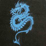 Textilní koberce DRAK 4ks černo modré