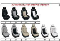 Autopotahy 2 místné samostatná sedadla šité na míru kožené AUTHENTIC LEATHER, 1+1