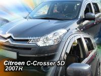 Plexi, ofuky Citroen C-Crosser 5D 2007 =>, + zadní HDT