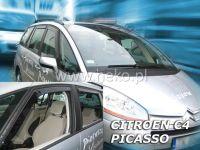 Plexi, ofuky Citroen C4 Picasso 5D 2006r =>, sada 4ks přední + zadní HDT