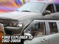 Plexi, ofuky Ford Explorer 5D 2002-2005 přední HDT