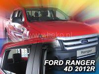 Ofuky oken Ford Ranger 4D 2012r => 4ks přední+zadní