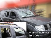 Plexi, ofuky bočních skel Navara Pick Up 2005r =>, sada 4ks přední + zadní HDT