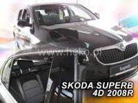 Plexi, ofuky ofuky bočních skel ŠKODA Superb II sedan 4D 2008 =>, přední + zadní HDT