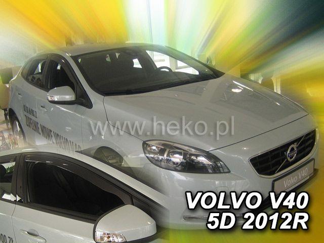 Protiprůvanové plexi, ofuky oken Volvo V40 5D 2012r =>, 2ks přední