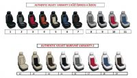 Autopotahy 1+2, 2+1, 3 místné šité na míru, kůže s alcantarou AUTHENTIC VELVET