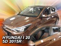 Ofuky oken Hyundai i20 II 5D 2015r =>, 4 ks přední+zadní