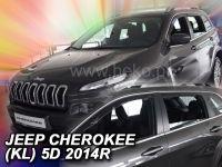 Ofuky oken Jeep Cherokee 5D 2014r =>, 4 ks přední+zadní