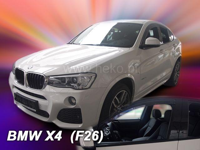 Plexi, ofuky bočních skel BMW X4 F26 5D 2013r =>, front, sada přední