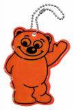 Přívěšek reflexní Medvěd oranžový