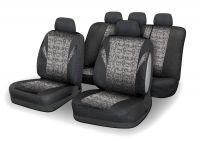 Autopotahy JACK III černo-šedé Univerzální na auto s atestem na airbag, zipem dělená lavice Vyrobeno v EU