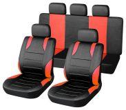 Autopotahy červené SPORT Univerzální na auto s atestem na airbag, zipem dělená lavice Compass
