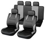 Autopotahy šedé SPORT Univerzální na auto s atestem na airbag, zipem dělená lavice Vyrobeno v EU