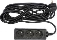 Kabel prodlužovací 3,0 m 3 zásuvky,černý