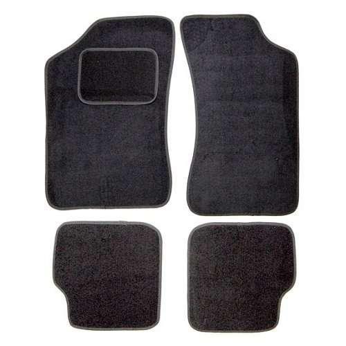 Autokoberce Škoda Felicia, černé, 2x přední, 2x zadní díl