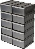 Skříňka se zásobníky, 10 zásobníků,  225x155x100mm