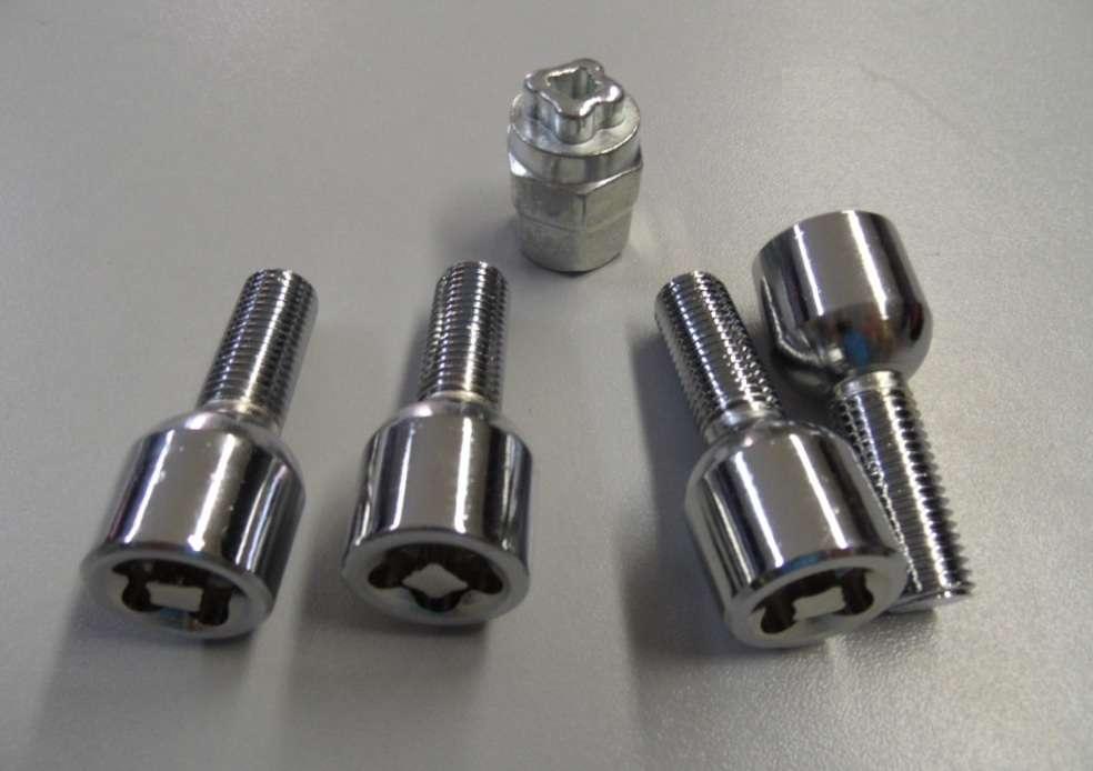 Sada bezpečnostních šroubu sedlo kulové, M12 x 1,5 x 29 mm, litý disk