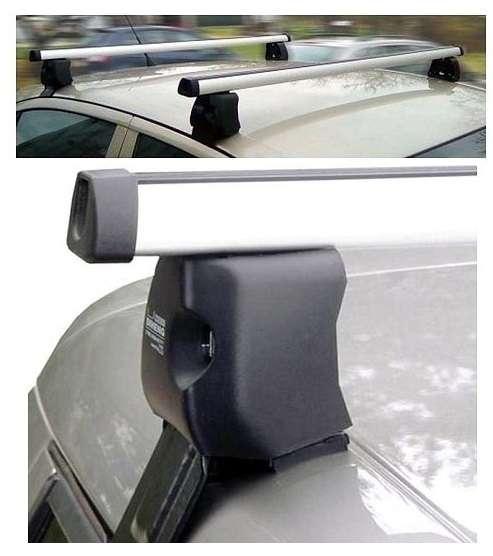 Uzamykatelný aluminiový střešní nosič Škoda Octavia II stříbrný