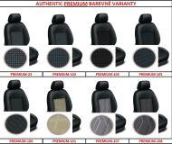 Autopotahy 4, 6, 8, 9 místné šité na míru AUTHENTIC PREMIUM, čalounické látky