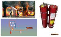 Systém hašení požáru pomocí vodní mlhoviny Fogmaker