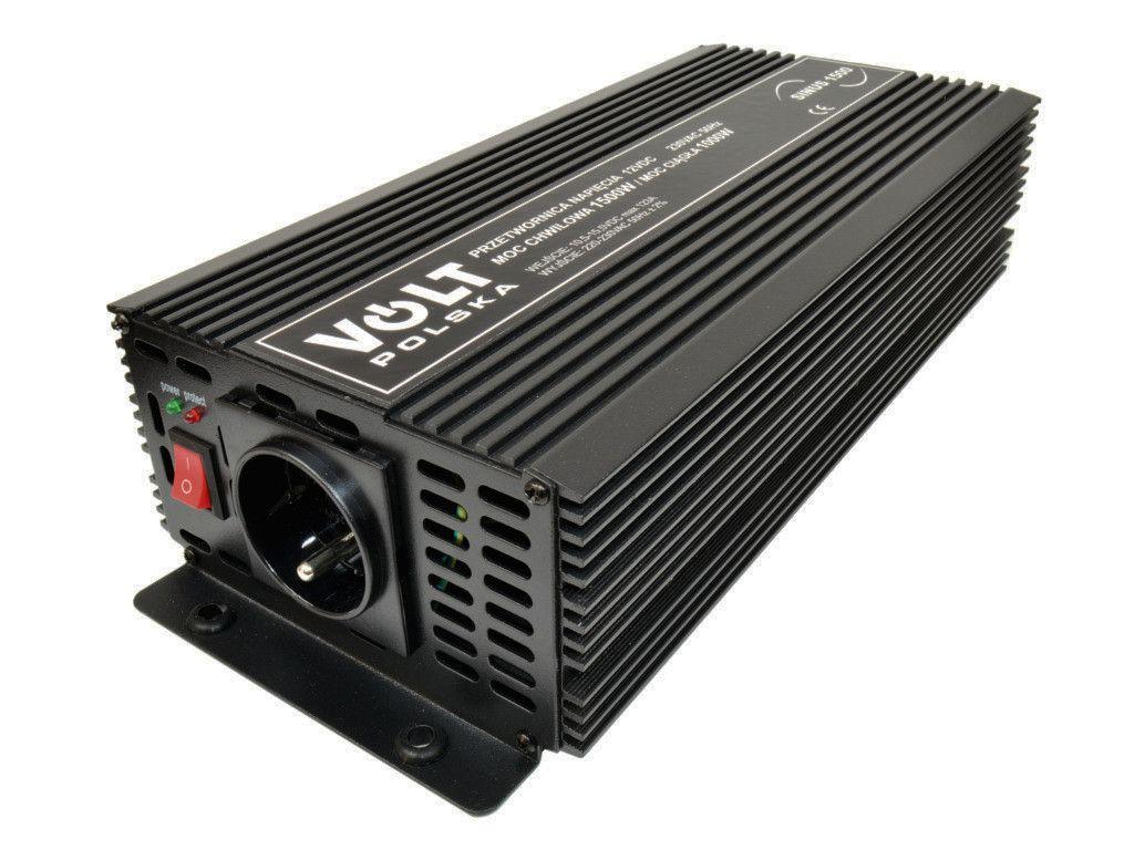 Měnič napětí 12V/ 230V SINUS 1500 Volt pro čerpadla, mikrovlnné trouby, ventilátory, lednice, kavováry