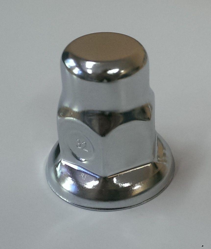 Plastová krytka na šroub a matici pochromovaná 10/32, 10ks Enatruck