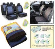 Autopotahy POLY modré, s atestem na airbag sada 9ks
