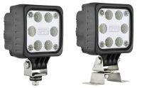 Pracovní světlo LED 10x10cm čiré sklo 1500lm 12/24V, 47400