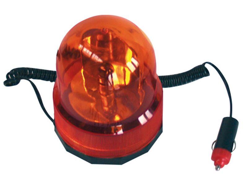 Maják 12V oranžový 5W žárovka kabel 3m