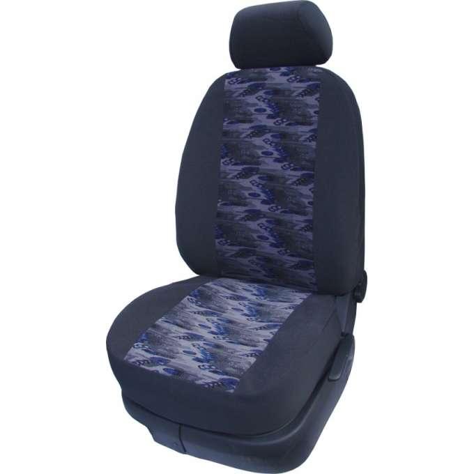 Autopotahy Velur planeta modrá s nedělenou zadní sedačkou R10