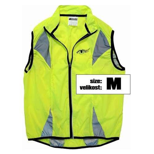 Reflexní vesta víceúčelová je vhodná pro jízdu na kole, běh, do auta, vel M