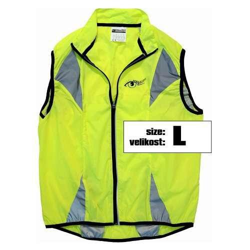Reflexní vesta víceúčelová je vhodná pro jízdu na kole, běh, do auta, vel L