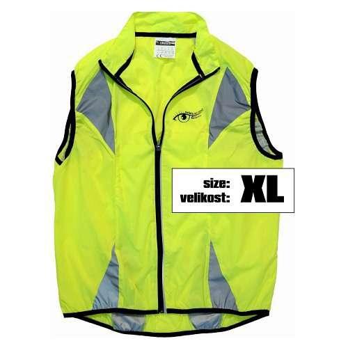 Reflexní vesta víceúčelová je vhodná pro jízdu na kole, běh, do auta, vel XL