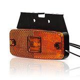 Poziční sdružené boční světlo s pantem oranžové, 12V-24V, LED, W46