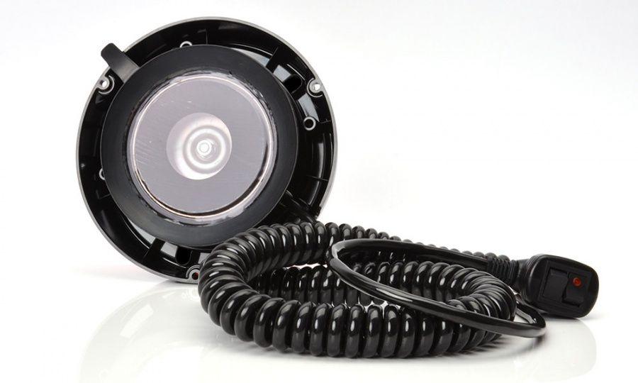 Maják magnetický LED oranžový,12/24V, kabel 7m, zástrčka, W112