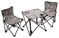Kempingový set stůl + židle VERONA 3ks, kamufláž maskač
