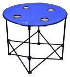 Kempingový skládací stůl modrý kulatý SPLIT 73cm