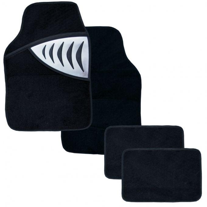 Textilní autokoberce SHARK šedé 2x přední díl, 2x zadní díl, univerzální Vyrobeno v EU