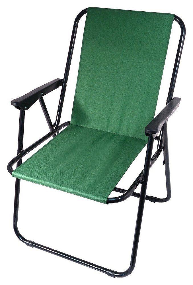 Kempingová skládací židle BERN zelená 110kg
