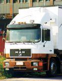 Sluneční clona MAN M2000/F2000, Narrow cabin, akrylová část s montážní sestavou